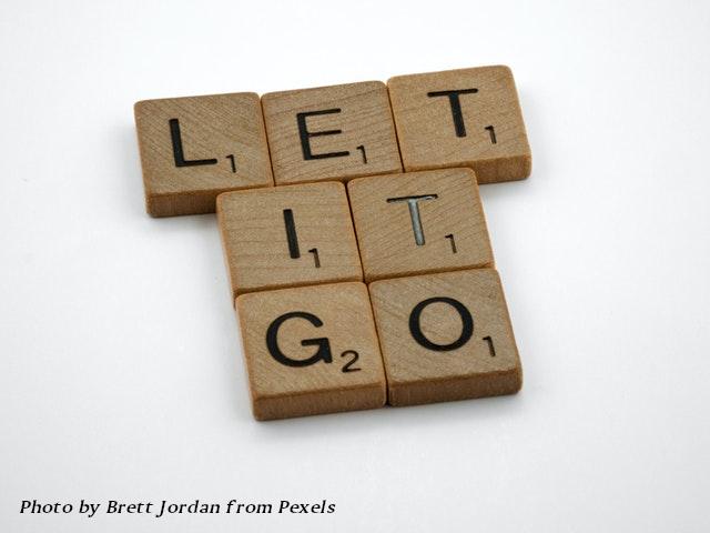 scrabble tiles - let it go