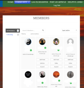 members page