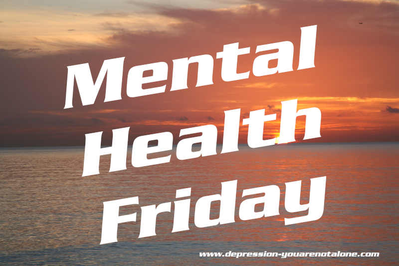 the words mental health friday over ocean sunrise copyrighted)