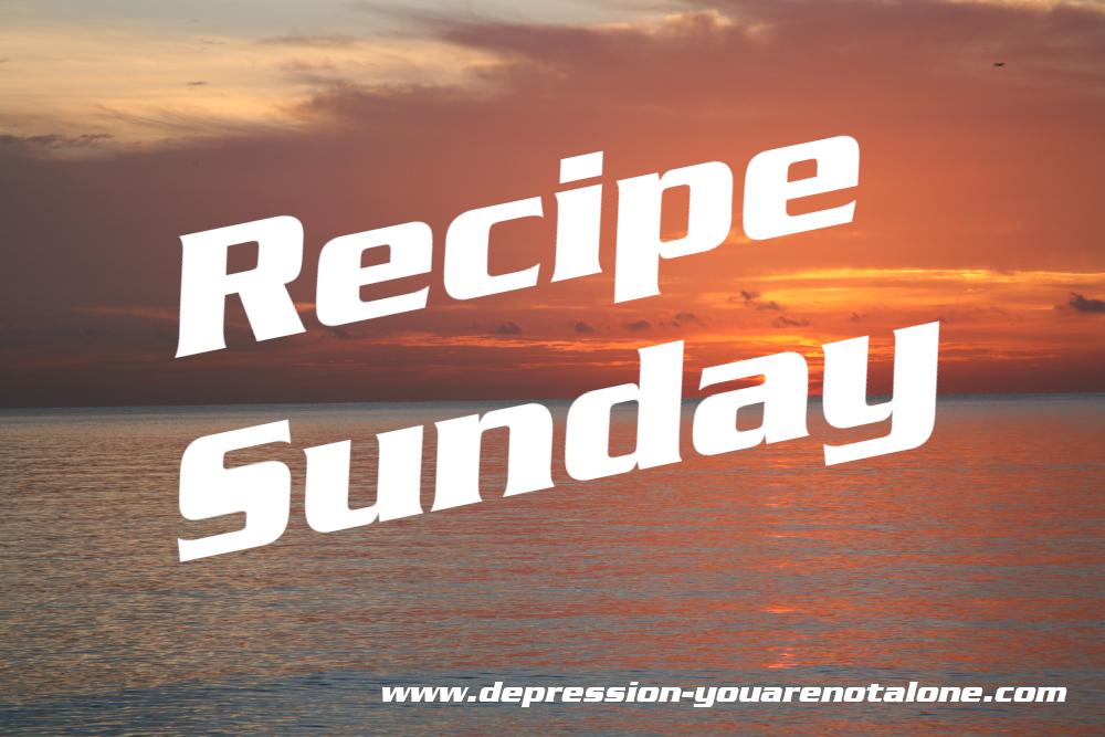 the words recipe sunday over ocean sunrise