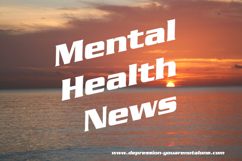 the words mental health news over ocean sunrise (copyrighted)