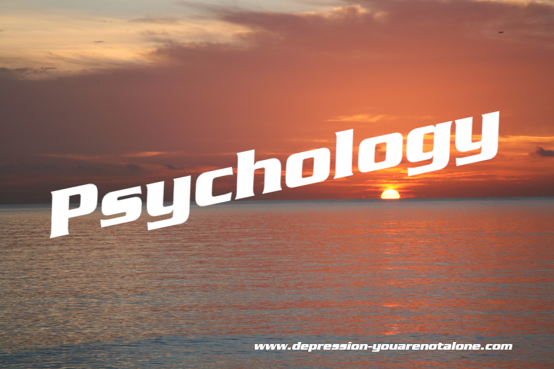 the word psychology over ocean sunrise (copyrighted)