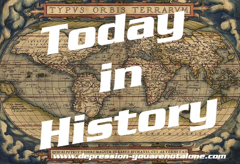 the words today in history over old wold map (copyrighted)